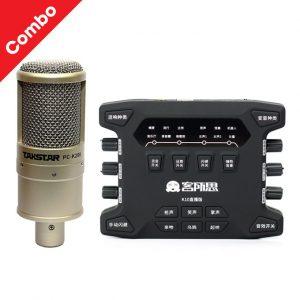 COMBO MIC TAKSTAR PC K200 VÀ SOUND CARD XOX K10X 2018