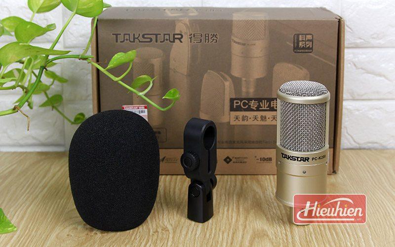 combo mic takstar pc k200 và sound card xox k10x 2018 - hộp phụ kiện