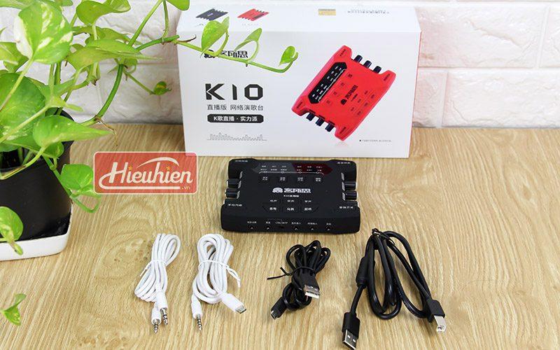 combo mic takstar pc k200 và sound card xox k10x 2018 - phụ kiện soundcard