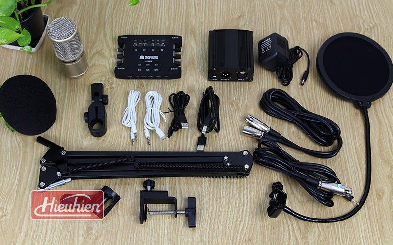 combo mic takstar pc k200 và sound card xox k10x 2018 - trọn bộ phụ kiện