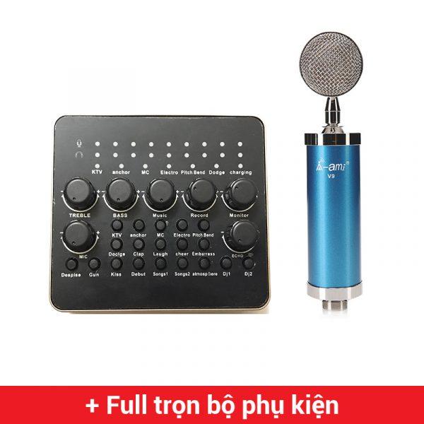 combo micro ami v9 sound card thu âm v10