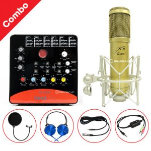 Combo Micro AMI X9 và Soundcard Icon Upod Pro - Thu âm hát live stream, karaoke giá rẻ