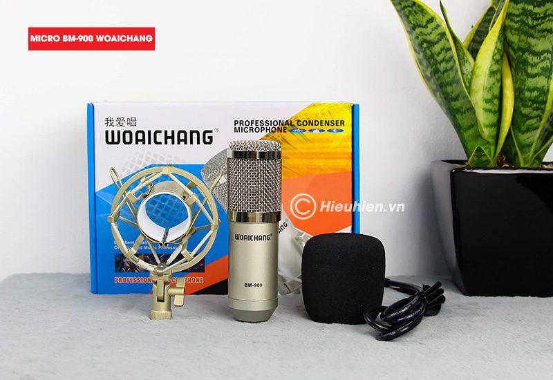 trọn bộ combo micro thu âm bm 900 woaichang + sound card v8 giá rẻ - hình 06