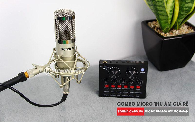 trọn bộ combo micro thu âm bm 900 woaichang + sound card v8 giá rẻ - hình 07