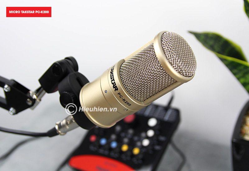 combo micro takstar pc-k200 + icon upod pro sound card cao cấp - đầu micro