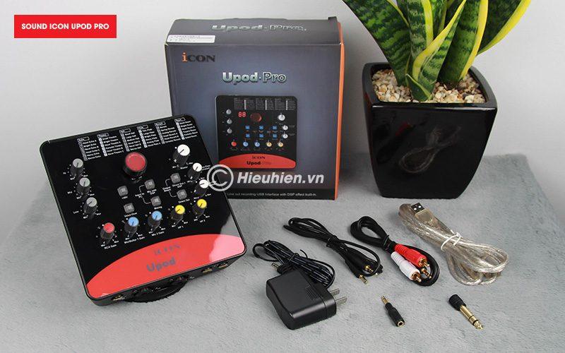 combo micro takstar pc-k200 + icon upod pro sound card cao cấp - phụ kiện