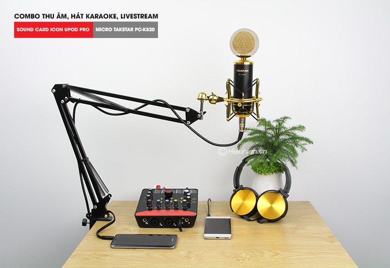 Combo Micro Takstar PC-K820 + ICON Upod Pro Sound Card - Thu âm hát live stream, karaoke chuyên nghiệp - hình 02