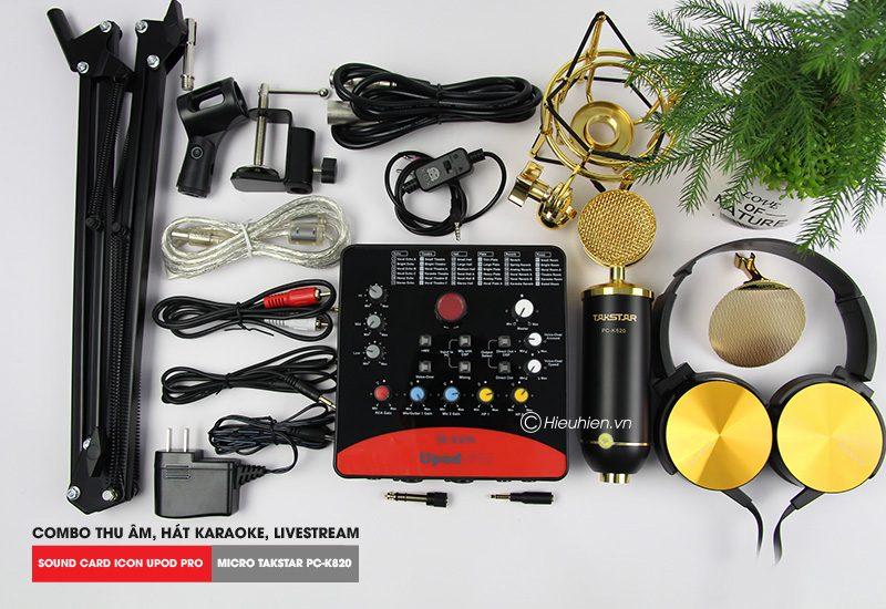 Combo Micro Takstar PC-K820 + ICON Upod Pro Sound Card - Thu âm hát live stream, karaoke chuyên nghiệp - hình 03