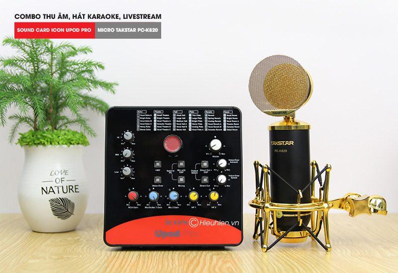 Combo Micro Takstar PC-K820 + ICON Upod Pro Sound Card - Thu âm hát live stream, karaoke chuyên nghiệp - hình 01