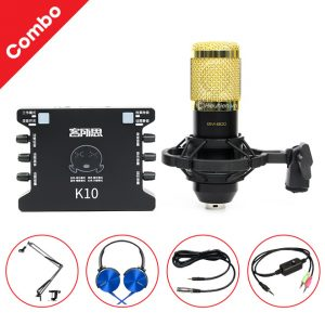 Combo Micro thu âm BM 800 + Sound Card XOX K10 giá rẻ, chính hãng