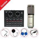 Trọn bộ Combo Micro thu âm BM 900 Woaichang + Sound Card V8 giá rẻ 0