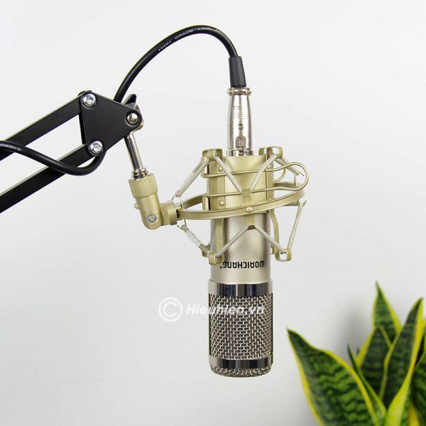 Trọn bộ Combo Micro thu âm BM 900 Woaichang + Sound Card V8 giá rẻ 06