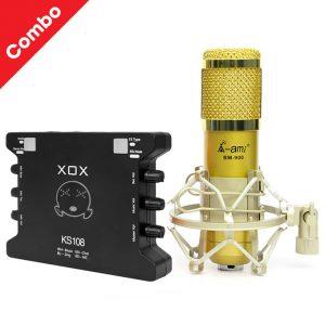 COMBO MIC BM-900 AMI VÀ SOUND CARD XOX KS108