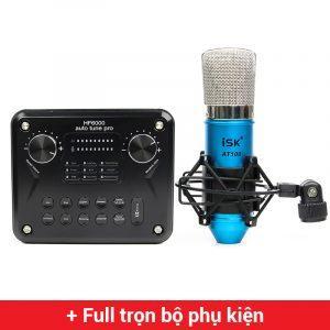 Combo Micro ISK AT100 + Soundcard HF6000 Pro - Thu âm hát live stream, karaoke giá rẻ