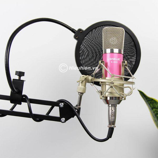 Combo Micro Libablue LD-K600 + Sound Card V8 - Thu âm hát live stream, karaoke giá rẻ 05