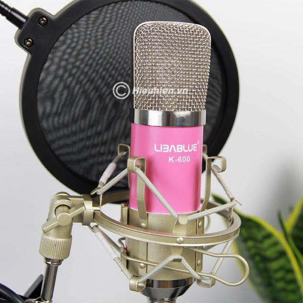 Combo Micro Libablue LD-K600 + Sound Card V8 - Thu âm hát live stream, karaoke giá rẻ 06