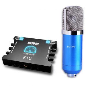 Combo Micro Thu Âm BM-700 Và Sound Card XOX K10