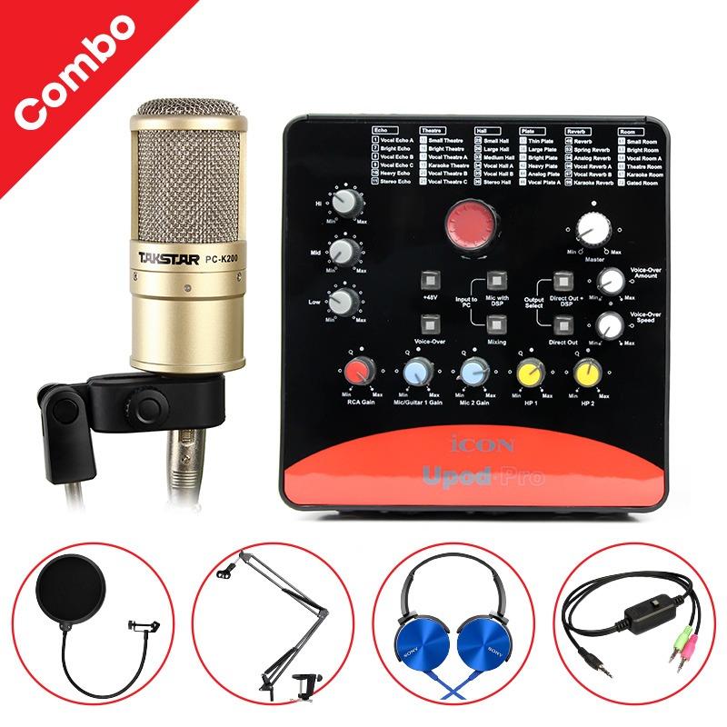 Combo Micro Takstar PC-K200 + ICON Upod Pro Sound Card cao cấp 0