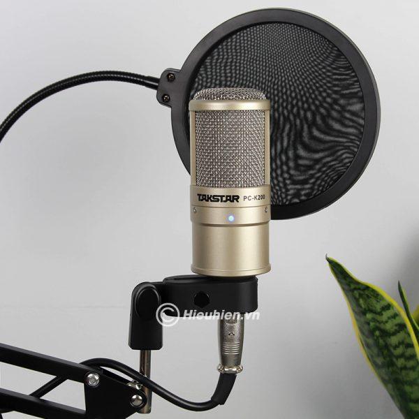 Combo Micro Takstar PC-K200 + Sound Card V8 - Thu âm hát live stream, karaoke giá rẻ 03