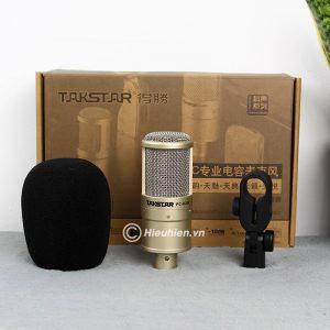 Combo Micro Takstar PC-K200 + Sound Card V8 - Thu âm hát live stream, karaoke giá rẻ 06