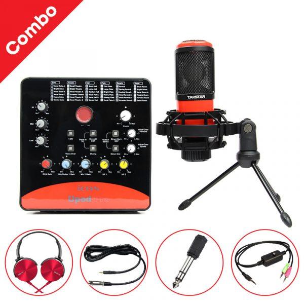 Combo Micro Takstar PC-K320 + ICON Upod Pro Sound Card - Bộ thu âm hát live chuyên nghiệp 0