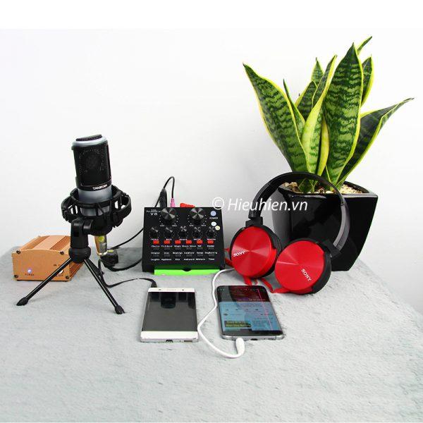 Combo Micro Takstar PC-K320 + Sound Card V8 - Thu âm hát live stream, karaoke chuyên nghiệp 02