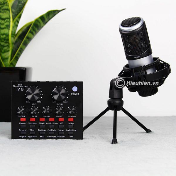 Combo Micro Takstar PC-K320 + Sound Card V8 - Thu âm hát live stream, karaoke chuyên nghiệp 04