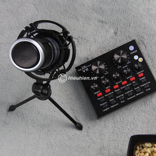 Combo Micro Takstar PC-K320 + Sound Card V8 - Thu âm hát live stream, karaoke chuyên nghiệp 05