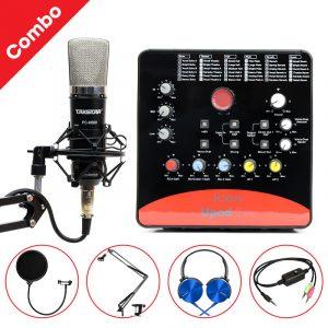 Combo Micro Takstar PC-K600 + ICON Upod Pro Sound Card - Bộ thu âm hát live chuyên nghiệp 0