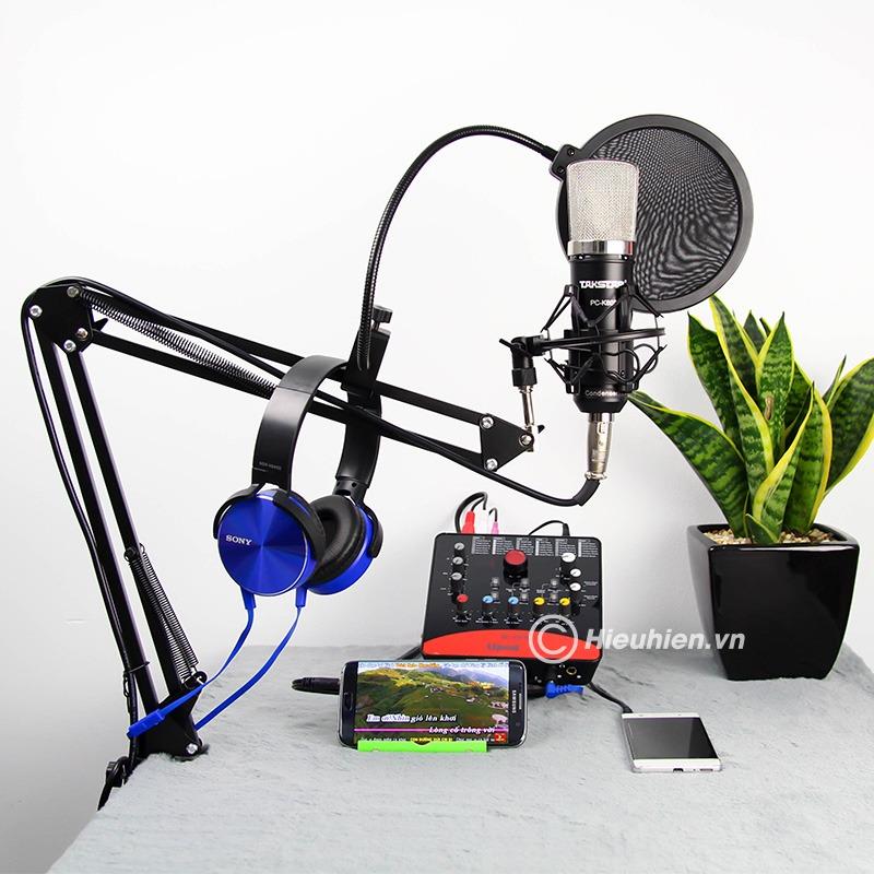 Combo Micro Takstar PC-K600 + ICON Upod Pro Sound Card - Bộ thu âm hát live chuyên nghiệp 02
