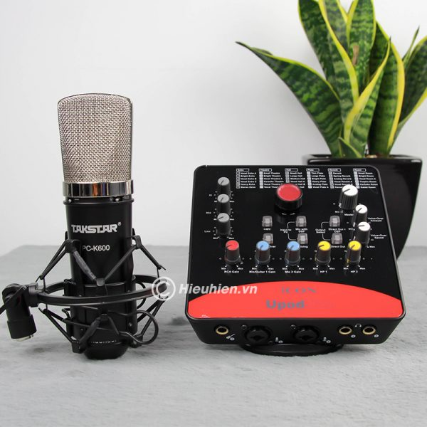 Combo Micro Takstar PC-K600 + ICON Upod Pro Sound Card - Bộ thu âm hát live chuyên nghiệp 04