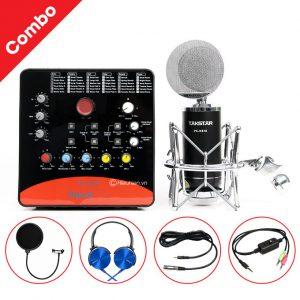 Combo Micro Takstar PC-K810 + ICON Upod Pro Sound Card - Thu âm hát live stream, karaoke chuyên nghiệp