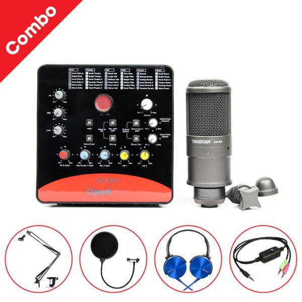 Combo Micro thu âm Takstar SM-8B + Sound Card ICON Upod Pro cao cấp 0