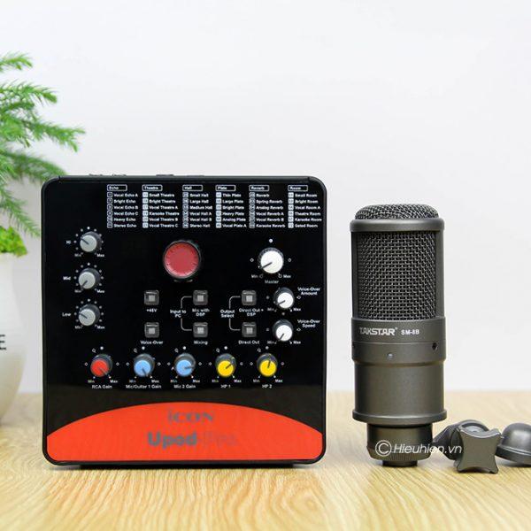 Combo Micro thu âm Takstar SM-8B + Sound Card ICON Upod Pro cao cấp 01