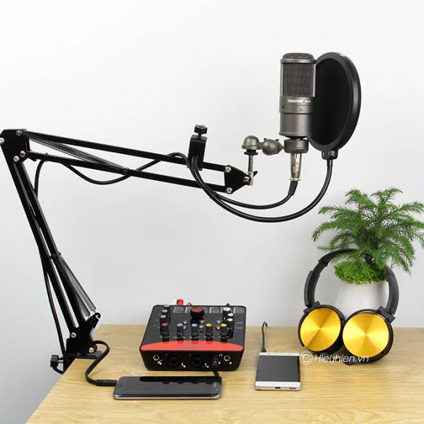 Combo Micro thu âm Takstar SM-8B + Sound Card ICON Upod Pro cao cấp 02