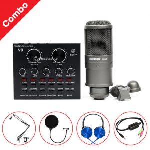 Combo Micro thu âm Takstar SM-8B + Sound Card V8 giá rẻ, chính hãng