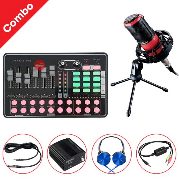 Combo Micro Takstar K320 và Soundcard MKAI H9 - Thu âm hát live stream, karaoke giá rẻ