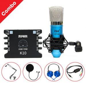 Combo Sound Card XOX K10 và Micro ISK AT100 01