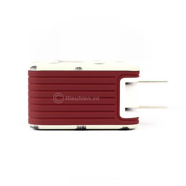 củ sạc space adapter vip08 3 usb chính hãng - hình 04