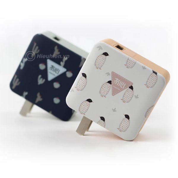 củ sạc nhanh space adapter vip12 qc3.0, hỗ trợ quick charge 3.0