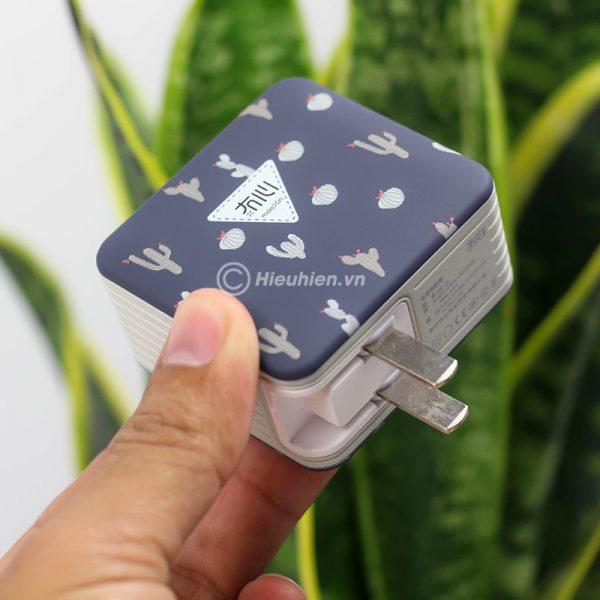 củ sạc nhanh space adapter vip12 qc3.0, hỗ trợ quick charge 3.0 - hình 04