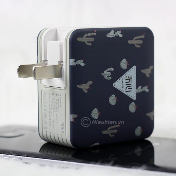 củ sạc nhanh space adapter vip12 qc3.0, hỗ trợ quick charge 3.0 - hình 06