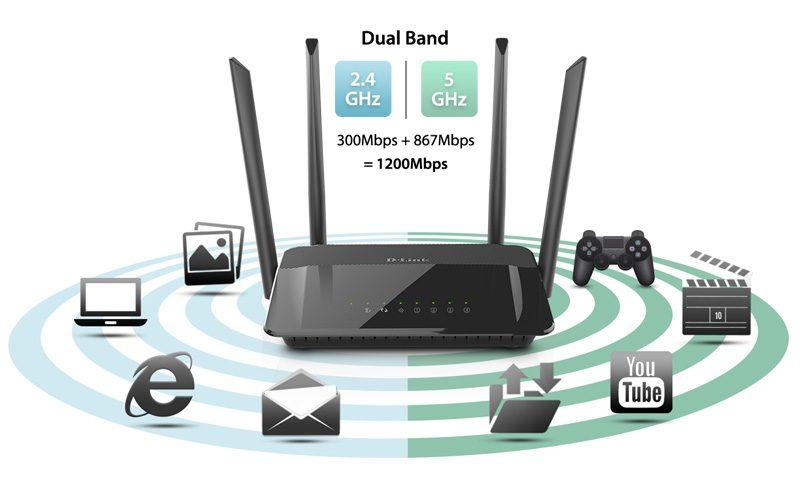 d-link dir-822 - router wifi băng tần kép không dây ac1200 chính hãng, giá tốt - hình 04