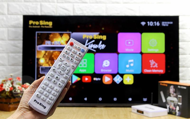 đầu karaoke thông minh prosing ps-100 pro - android tv box - remote