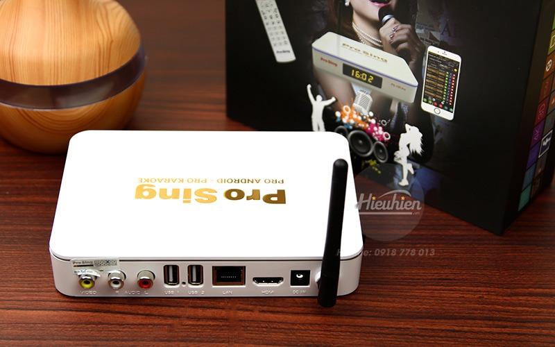 đầu karaoke thông minh prosing ps-100 pro - android tv box - cổng kết nối