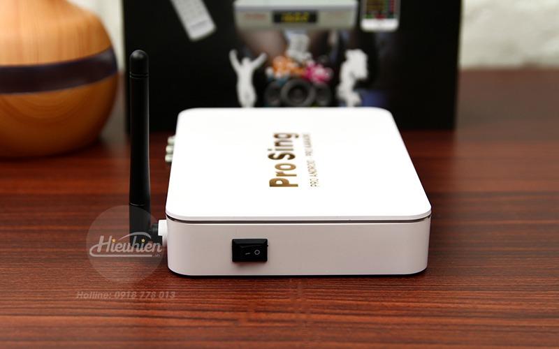 đầu karaoke thông minh prosing ps-100 pro - android tv box - nút nguồn