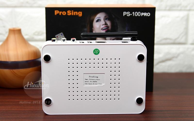 đầu karaoke thông minh prosing ps-100 pro - android tv box - mặt sau