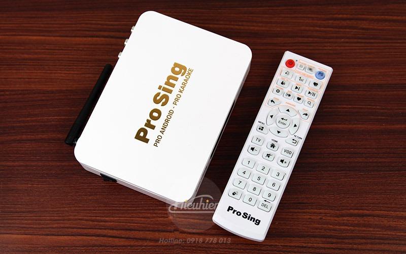 đầu karaoke thông minh prosing ps-100 pro - android tv box - box kèm remote