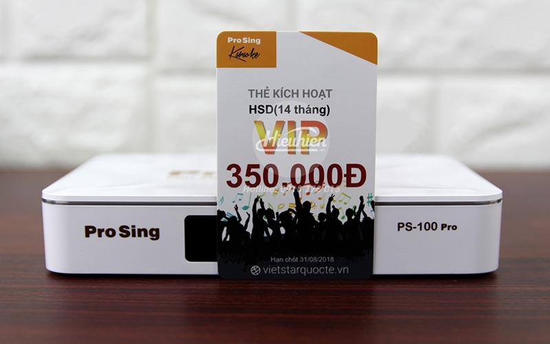 đầu karaoke thông minh prosing ps-100 pro - android tv box - thẻ vip