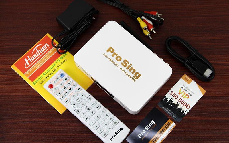 đầu karaoke thông minh prosing ps-100 pro - android tv box - trọn bộ sản phẩm